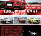 Cars for Rent - Long Weekend on National Day & Hari Raya Haji Package OUT!