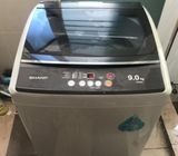 Sharp (9.0kg), washing machine / washer ($210 + free delivery and 2mths warranty) Model : ESX905 Col