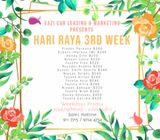 Car Rental - Hari Raya 3rd Week - Weekdays Promo (Mon - Fri)