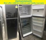 Toshiba (401L), 2doors (Inverter) refrigerator / fridge ($350 + Free Delivery and 2mths warranty)