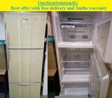 Mitsubishi (412L), 3 doors Big fridge / refrigerator ($250 + Free Delivery and 2mths warranty)