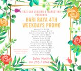 Car Rental - Hari Raya 4th Weekdays Promo