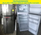 (Quite New) LG (242L), 2doors refrigerator / fridge ($300 + Free Delivery and 2mths warranty)