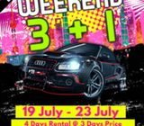 Cars Rental Weekend 3+1 Promo is Back! (Wide Variety @ Super Low