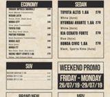 Cheapest Weekend Car Rental (Last Weekend of July) Hot Promo!