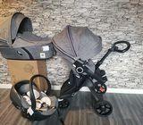 stokke xplory v6 complete baby stroller 3 in 1