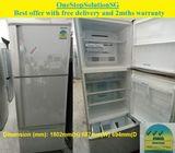Mitsubishi 412L, 3doors Big Fridge / Refrigerator ($330 + Free Delivery and 2mth warranty)