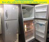 LG (313L), 2doors Big refrigerator / fridge ($230 + Free Delivery & 2mths warranty)