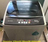 Sharp (9kg), washer / washing machine ($210 + Free Delivery & 2mths warranty)