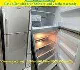 Hitachi (395L) 2doors Big fridge / refrigerator ($330 + Free Delivery and 2mths warranty)