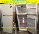 LG (313L), 2doors Big refrigerator / fridge ($200 + Free Delivery & 2mths warranty)