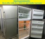 Offer: Daewoo (374L) 2doors Big Refrigerator / Fridge ($300 + Free Delivery and 2mths warranty)