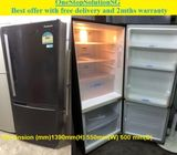 Panasonic (185L), 2doors refrigerator / fridge ($180 +Free Delivery and 2mths warranty)