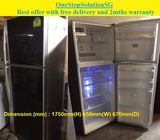 Toshiba (410L) 2doors BIG  Fridge / Refrigerator ($320 + Free Delivery and 2mths warranty)