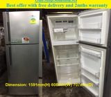 LG (350L), 2 doors fridge /Refrigerator ($270 + Free Delivery & 2mths warranty)