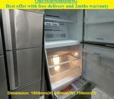 Mitsubishi (418L) 3doors Big fridge / refrigerator  ($300 + free delivery & 2mth warranty)