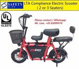 UL2272 Fiido Scooter (2 or 3 Seats, LTA Compliance)