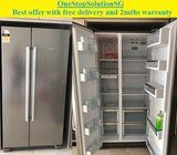 Bosch (555L),Side by-Side fridge / refrigerator ($550 + Free Delivery & 2mths warranty)  ty Period: