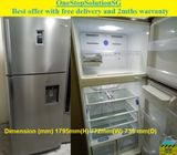 Samsung (497L), 2doors Huge fridge / refrigerator with water dispenser ($450+ Free Delivery & 2mths