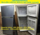 Samsung 253L, 2doors refrigerator / fridge ($200 + Free Delivery & 2mths warranty)