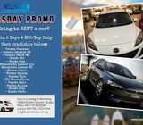 Tuesday Cars Rental Hot Promo - As Low as $50 per day. Hurry!