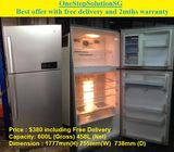 LG (458L), 2Doors Huge Fridge / refrigerator ($380 + Free delivery and 2mths waarranty)