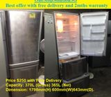 Mitsubishi (365L) 3doors fridge / refrigerator ($250 + Free Delivery and 2mths warranty)