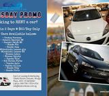 Cars for Rent - Tuesday Hot Promo