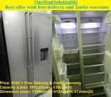 Samsung (539L)  Side by Side Doors  Fridge / Refrigerator ($500 + Free Delivery & 2mths warranty)