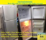 Samsung (216L) 2 doors Refrigerator / Fridge ($185 + Free Delivery & 2mths warranty)