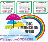 Monsoon Sale - MITSUBISHI Inverter Air-Con Offer