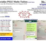 Specialized PSLE Mathematics Small Class Tuition