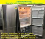 Panasonic (321L), 2doors (Inverter) refrigerator / fridge ($300 + Free Delivery & 2mths warranty)