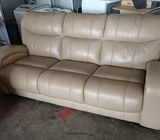 3 seaters leather Sofa ($150 Self collect 11 Woodlands Close)