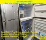 Toshiba (573L) Huge 2-door Fridge / Refrigerator ($400 + Free Delivery and 2mths Warranty)