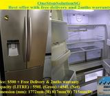 Samsung 454L 4doors Big fridge / refrigerator ($500 + Free Delivery & 2mths warranty)