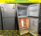 Samsung (354L) 2doors Big refrigerator  / fridge ($250 + Free Delivery and 2mths warranty)