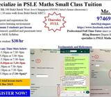 Specialize in PSLE Math Small Class Tuition