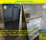 (Quite New) Toshiba (535L), 2door Huge fridge / refrigerator ($550 + Free Delivery and 2mths warrant