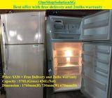 Panasonic (456L) 2doors Hugh Fridge / Refrigerator ($330 + Free Delivery and 2nths warranty)