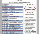 2002 H2 Maths Crash Course Tuition