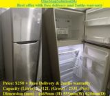 LG 253L, 2doors refrigerator / fridge ($250 + Free Delivery & 2mths warranty)