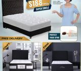 Low Price Hotel Quality Pocket Spring Super Single Mattress $188 ONLY. FREE DELIVERY. Call 96177025