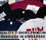 Quality t-shirt printing services in Singapore