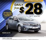 2016 Toyota Altis [ONE MODEL ONLY] 1month - $28 nett (Limited units available)