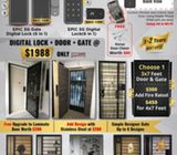 HDB Main door +HDB Gate + Digital lock on wooden door +Digital lock on gate $1988 Call 91616282