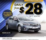 LAST CALL! 2016 Toyota Altis @ $28nett/day (min 1 month contract) No Gimmick!