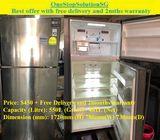 LG (481L), 2doors Huge fridge / refrigerator ($450 + Free Delivery & 2months warranty)