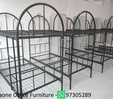Worker Dormitory Double Decker Bunk Bed & 2 Door Metal Locker, New Stock