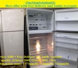 Mitsubishi (501L),  2Doors Huge Fridge / Refrigerator ($380 + Free Delivery and 2mths warranty)